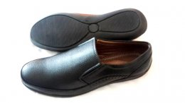 Synthetic Mild Leather with TPR Sole Slip-On Shoes for Mens