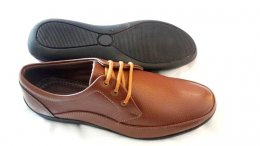 Synthetic Mild Leather with TPR Sole Shoes for Mens