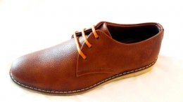 Genuine Synthetic Leather with TPR Light Weight Sole Lace-up Casual Shoes for Mens