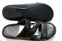100% Genuine Marbal Printed Leather Material with Flat Davinci Comfort Sole Chappals for Mens