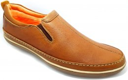 Genuine Cow Leather with Collar DD Slip-on Casual Shoes for Mens